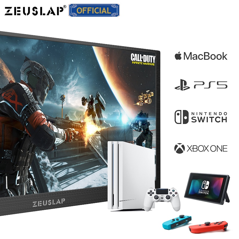 High-end 15.6inch 1920*1080P or 4K PD HDR IPS Portable Screen Gaming Portable Monitor for Samsung S8 Macbook Pro Huawei Mate 10