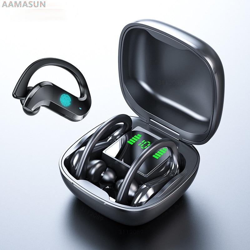 Bluetooth Earphone Led Display Wireless Headphone TWS with Microphone Stereo Earbuds Waterproof Nois
