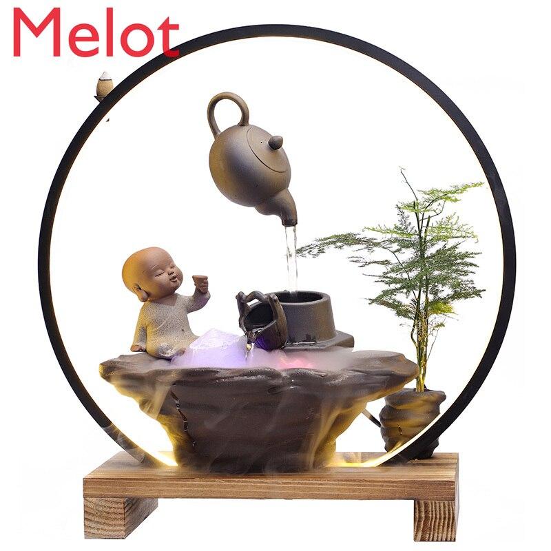 Feito à Mão Umidificador de Mesa Sala de Estar Mestre Personalizado Criativo Pendurado Casa Lâmpada Anel Cense Queimador Sorte Feng Shui Ornamentos