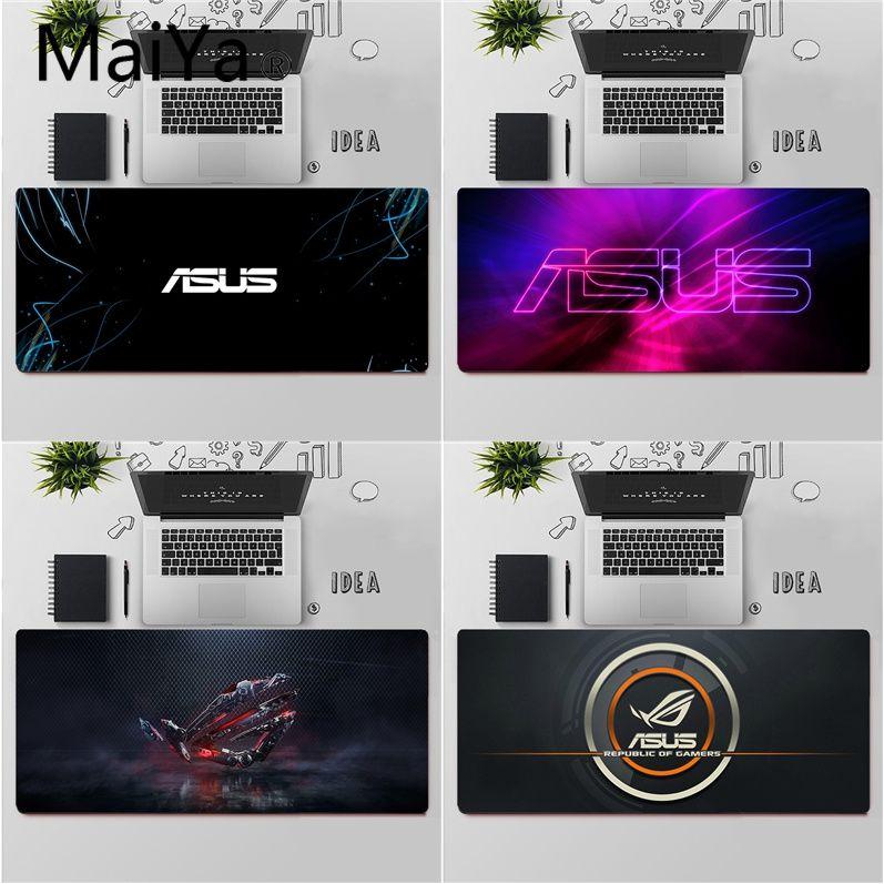 Alfombrilla para ratón Maiya de alta calidad con Logo ASUS, portátil, envío gratuito, alfombrilla grande para teclado