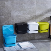 7L Kitchen Plastic Cabinet Trash Bin Garbage Hanging Stock Hanging Dust Bin Storage Bucket Holder Rubbish Container Can