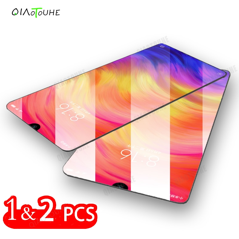 2 uds Protector de pantalla para Xiaomi Redmi Note 7 6 5 8 Pro protectora de vidrio templado para Redmi 8 7 6 K20 Pro 8A 7A 6A película de vidrio