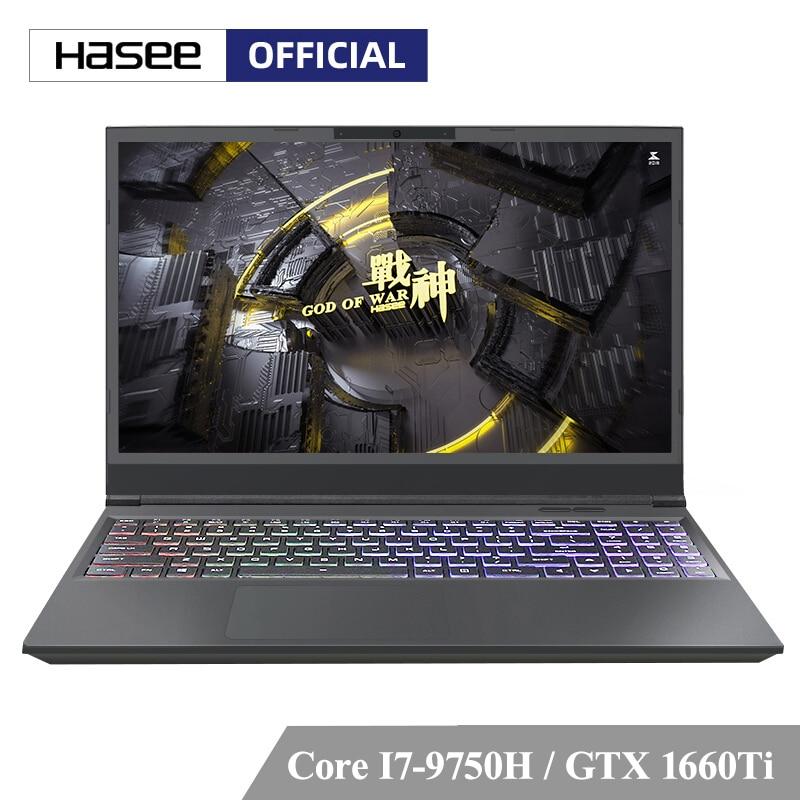 Ordenador portátil Hasee Z7-CT7VH para juegos (Intel I7-9750H + GTX1660Ti/8GB RAM/256G SSD + 1T HDD/15,6 IPS/Teclado retroiluminado)