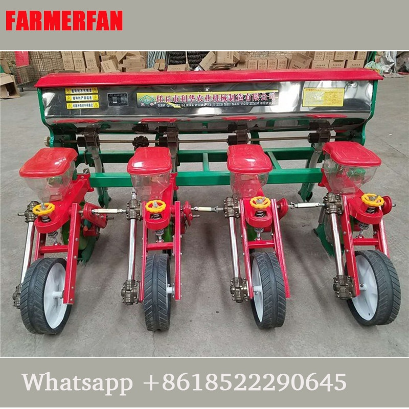4 lines Corn planter four-wheel tractor fertilizing planter precision sowing new large corn planter sowing