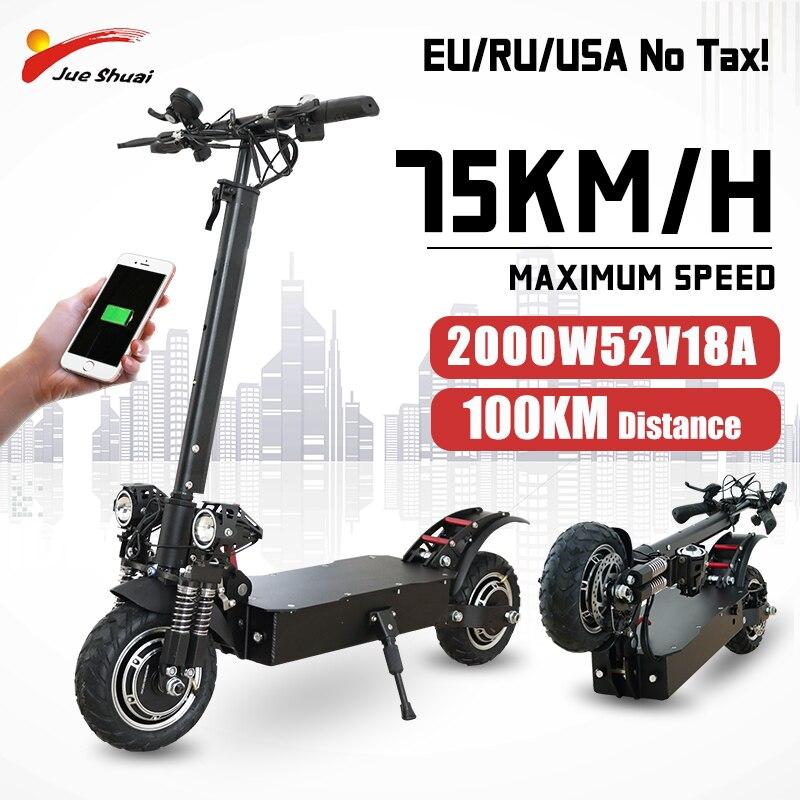 JS Scooter Eléctrico 52V Ebike adultos gran rueda Patinete Electrico 1600W/2000W Escooter...