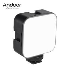 Andoer 5W Mini LED Video Licht Fotografie 6500K Füllen-in Lampe Dimmbare xCold Schuh Mount Adapter für canon Nikon Sony DSLR Kamera