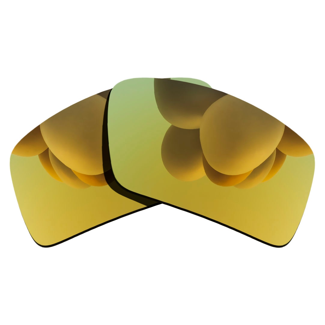 24K Gold Polarized Sunglasses Replacement Lens for-Oakley Eyepatch 2 Frame 100% UV Protection Good F