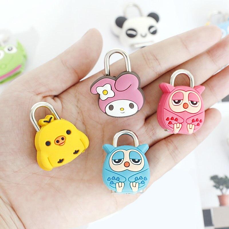 1Pcs Mini Cartoon Vorhängeschlösser Key Lock mit Schlüssel Gepäck Lock Zipper Tasche Rucksack Handtasche Schublade Schrank Kinder Spielzeug