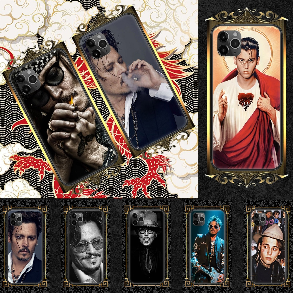 Johnny Depp Phone Case Cover Hull For iphone 5 5s se 2 6 6s 7 8 12 mini plus X XS XR 11 PRO MAX black trend cell cover fashion