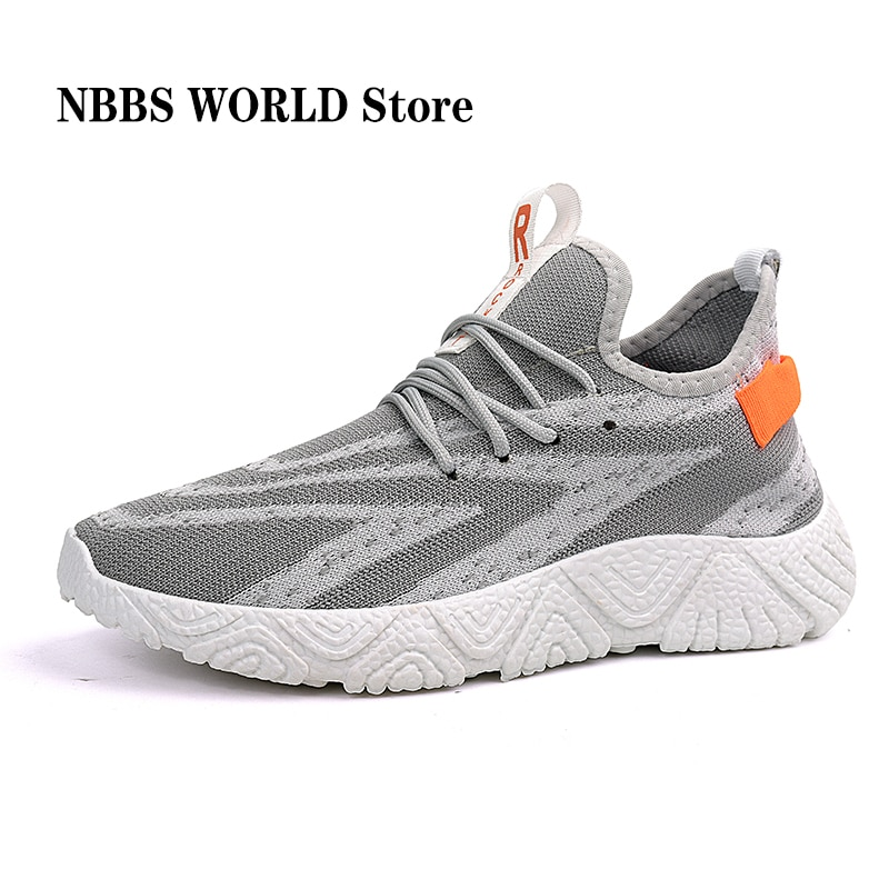 Mens Casual Sneaker, Flat Lightweight Mesh Sport White Work Soft-soled Outdoors Travel Street-style Breathable, Office-shoes