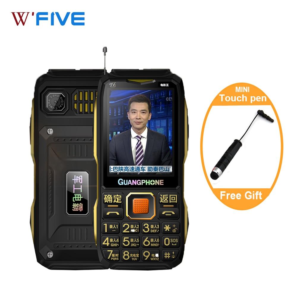 Teléfono móvil Original, pantalla táctil 8200, 2Sim, analógico, TV, linterna de gran volumen, Powerbank, pantalla táctil, móvil en ruso