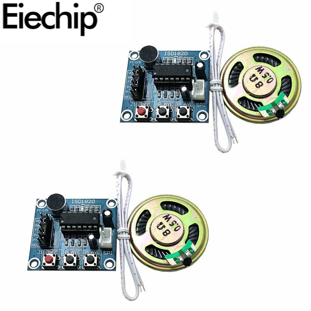 Модуль записи голоса ISD1820 с микрофоном, звуковой динамик для Arduino, набор для самостоятельной сборки