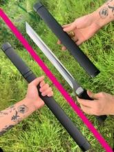 Japonais Ninja Dao épée Katana 1095 acier au manganèse forte Wakizashi extérieur couteau prêt