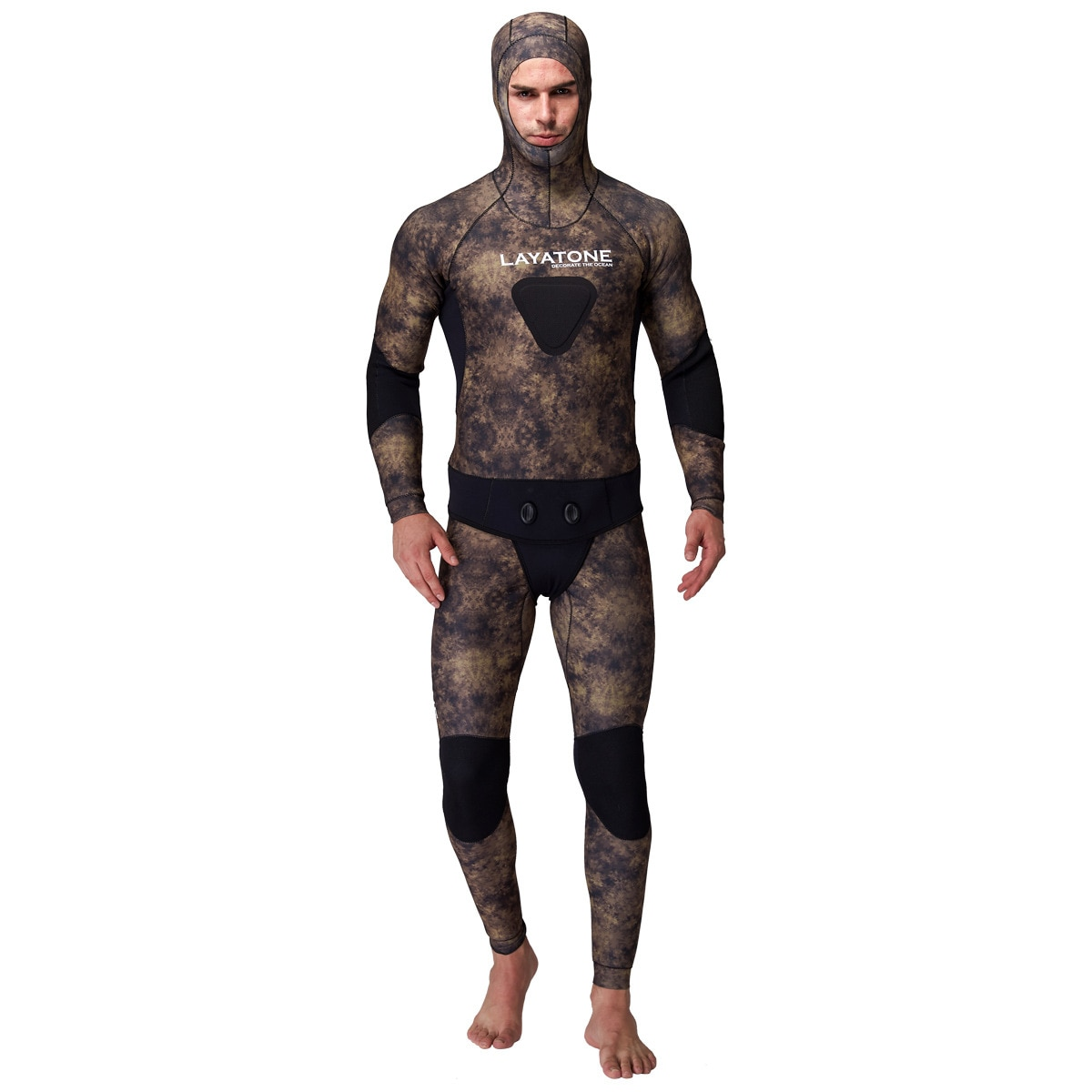 3MM Two-Piece Surfing Neoprene Scuba Diving Suit Men Snorkeling Underwater Hooded Wetsuit Thermal Hunting Spearfishing SwimSuit