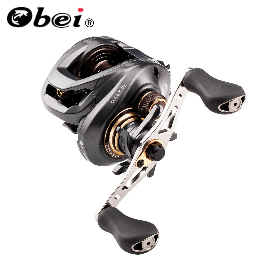 Obei Classic P1 Baitcasting Reel Dual Brake System Reel 8KG Max Drag 7+1 BBs 7.2:1 High Speed Fishing  Power fishing Reel
