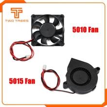 5015 турбинный вентилятор 12 В 24 в охлаждающий бесщеточный 3D принтер части 2Pin Dupont провод DC кулер вентилятор Радиатор 50x50x15 мм часть пластик