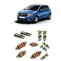 car accessories car led interior light kit for dacia sandero 2 mk2 2012 2021 error free white 6000k super bright