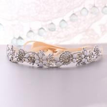 TRiXY S431 Elegant Silver Rhinestone Belt Wedding Belt Sash Bridal Belt for Dress Bridesmaid Belt Jewel Belt for Women Waistband