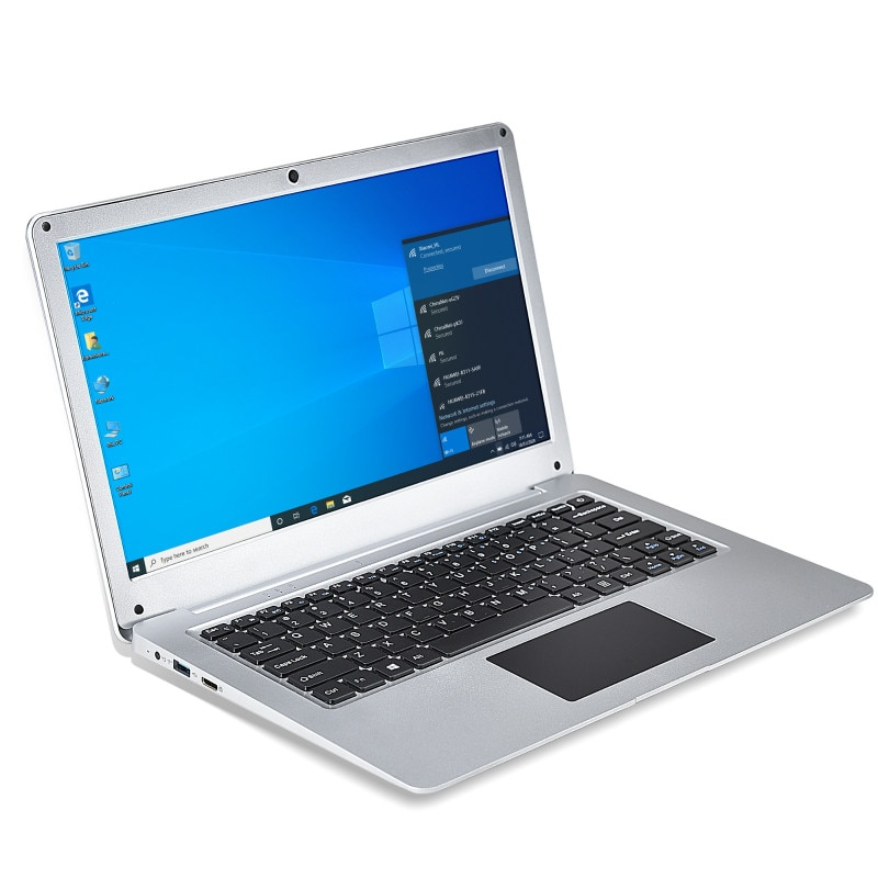 N3350 12.5'' Slim Mini Laptop 4G RAM 64G SSD Ultrabook Portable Business Office Small Notebook Black and Silver Netbook Computer