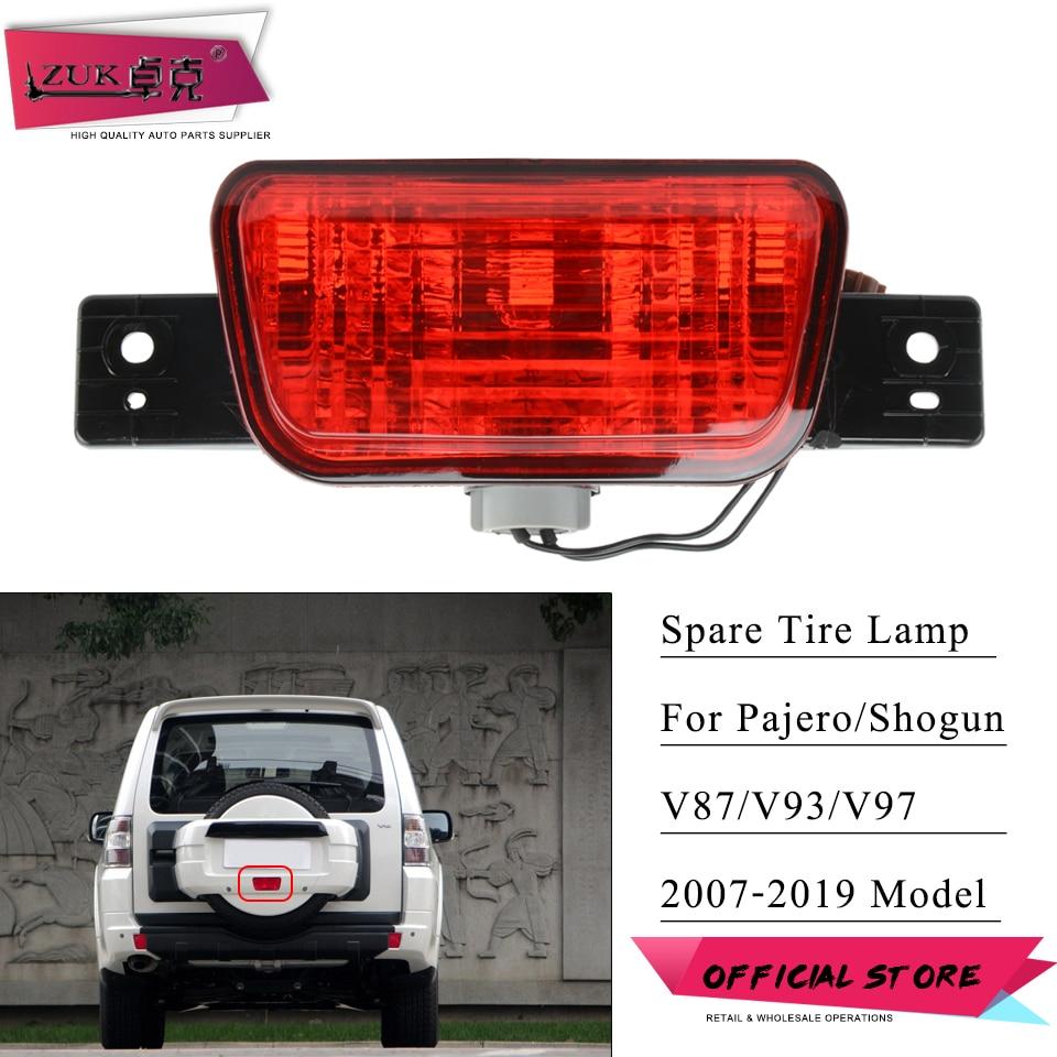 ZUK, Reflector de luz antiniebla para parachoques trasero de neumático de repuesto, para Mitsubishi Pajero Shogun Montero V83 V93 V97 V98 2007-2019 8337A068