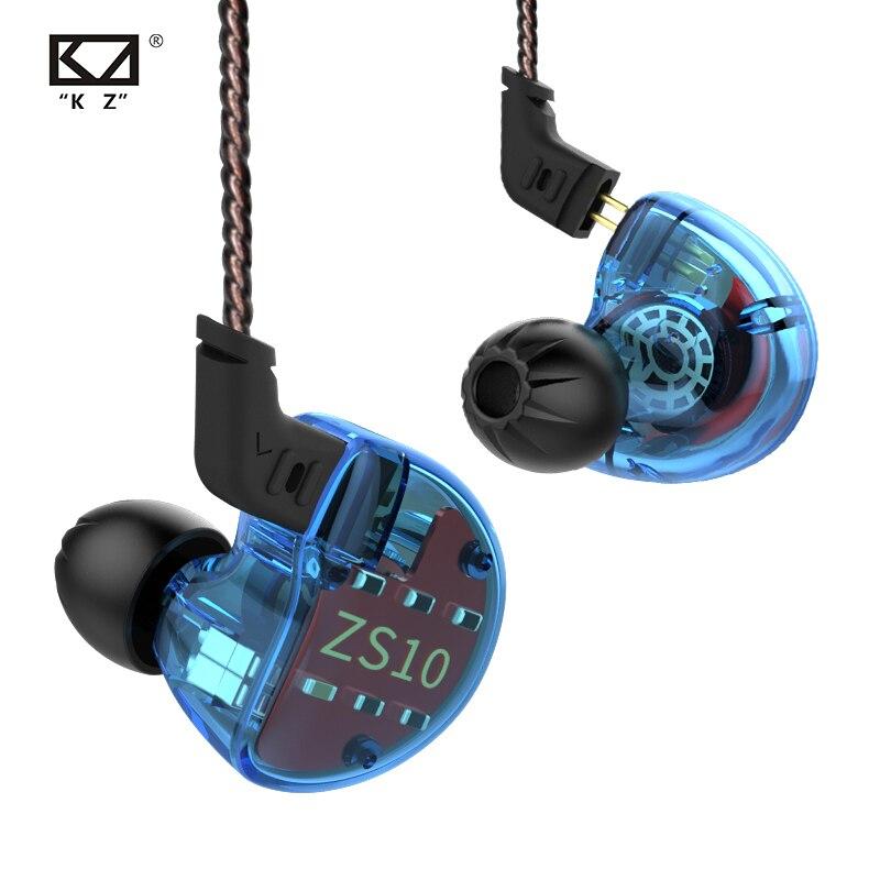 Fone de ouvido qkz vk1 4dd, com fone de ouvido intra-auricular, monitor de dj, para corrida e esporte, zs10, zs6