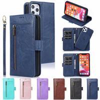 Съемный кожаный чехол для iPhone 11 Pro Max 12 Pro XR XS Max X SE Магнитный чехол-кошелек для iPhone 8 Plus iPhone 7 iPhone 6 мобильный телефон сумка