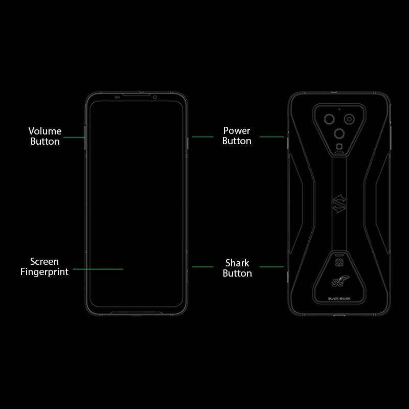 Фото3 - Глобальная версия черного цвета с изображением акулы 3 5G Snapdragon 865 8 ГБ 128 игры телефон Octa Core 64MP тройной AI камерами 65 Вт Зарядное устройство 4720 м...