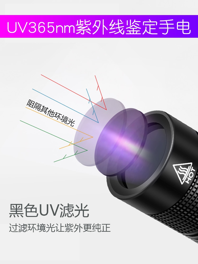 portatil luz uv lanterna poderosa preto luz detector de moeda lanterna recarregavel