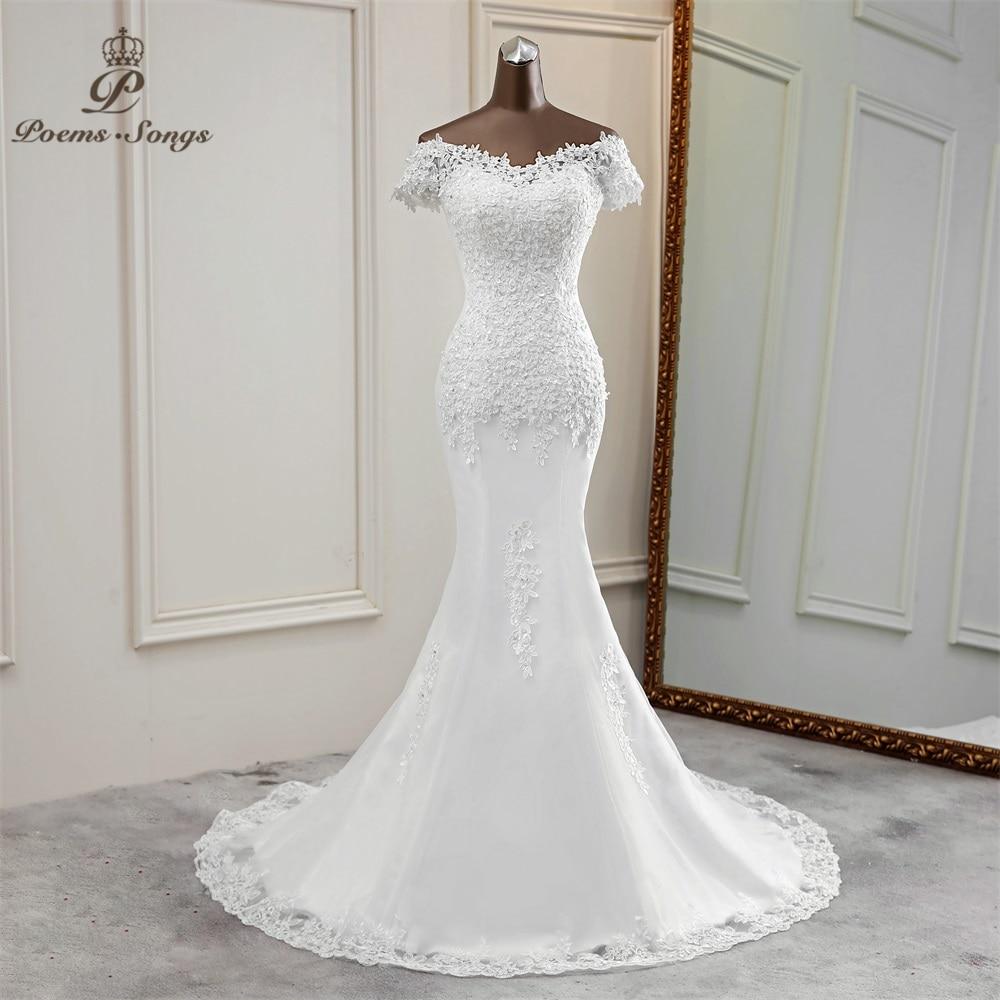 Sexy apliques para vestido de novia de flor  vestido elegante de novia vestidos de boda de encaje hermoso vestido de novia sirena