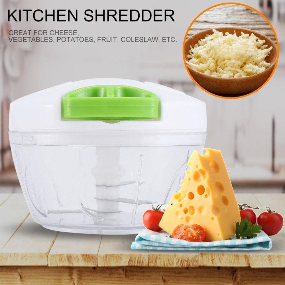 2018 trituradora Manual de cocina de tamaño pequeño rallador de frutas de verduras rebanadora rotativa multifuncional cortador de verduras de cocina