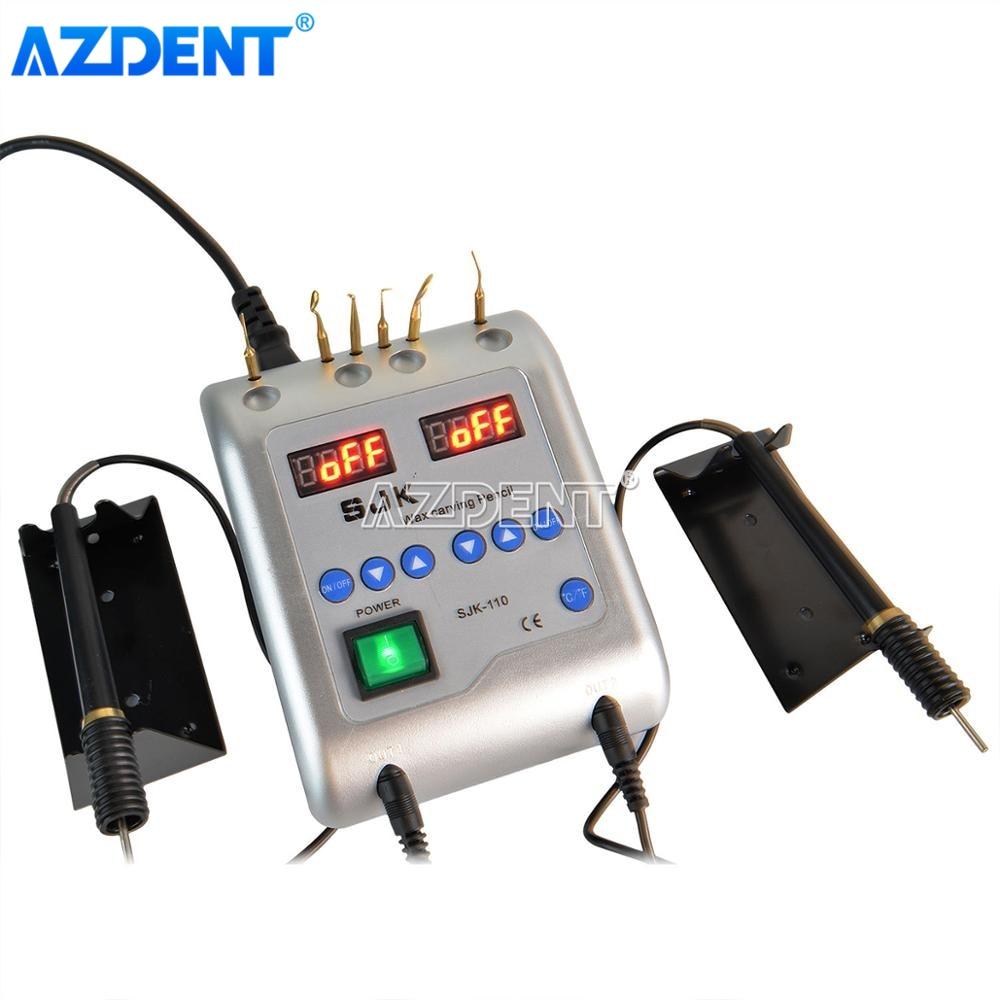 AZDENT الأسنان الكهربائية الشمع سكين نحت مختبر الأسنان الشمع سكين مع 6 نصائح الشمع 2 أقلام طبيب الأسنان أداة