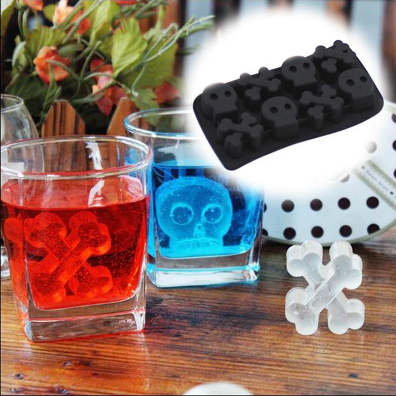 Moule à whisky boule à glace Silicone   Plateaux crâne Cube à glace, moule à whisky boule à glace, moule gâteau Silicone nouveauté drôle cuisine maison chocolat