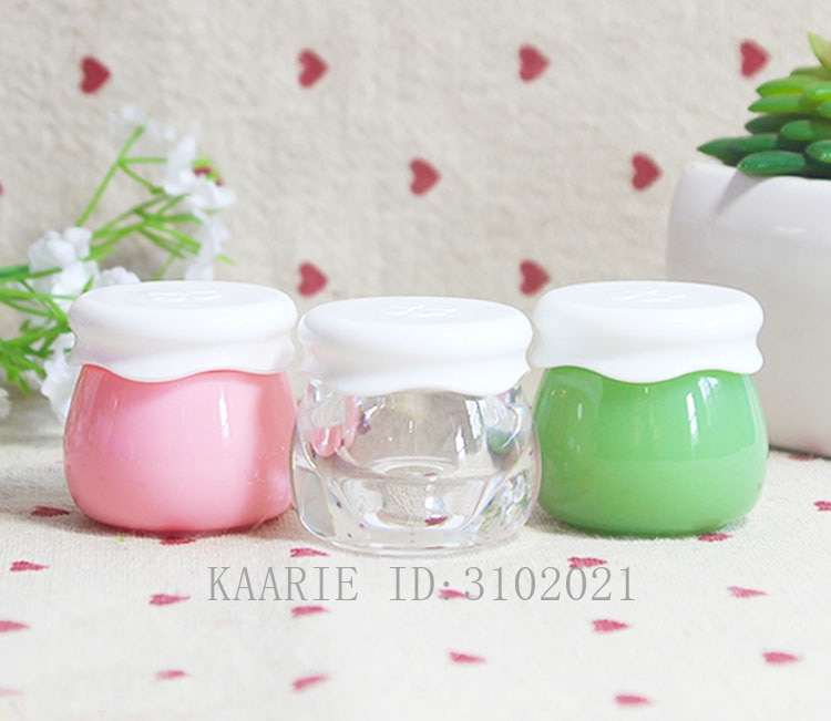 10g 10/30/50 pçs vazio acrílico cosmético frutas jam frasco de creme de facil, pote recarregável máscara portátil diy, beleza maquiagem ferramenta recipiente
