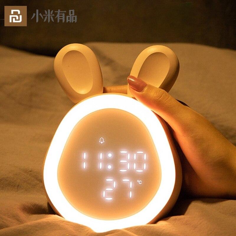 Youpin LED المنبه الاطفال بلوتوث Workday إحساس اللمس توقيت ضوء الليل نوم تعديل حجم الإلكترونية الساعات المكتبية