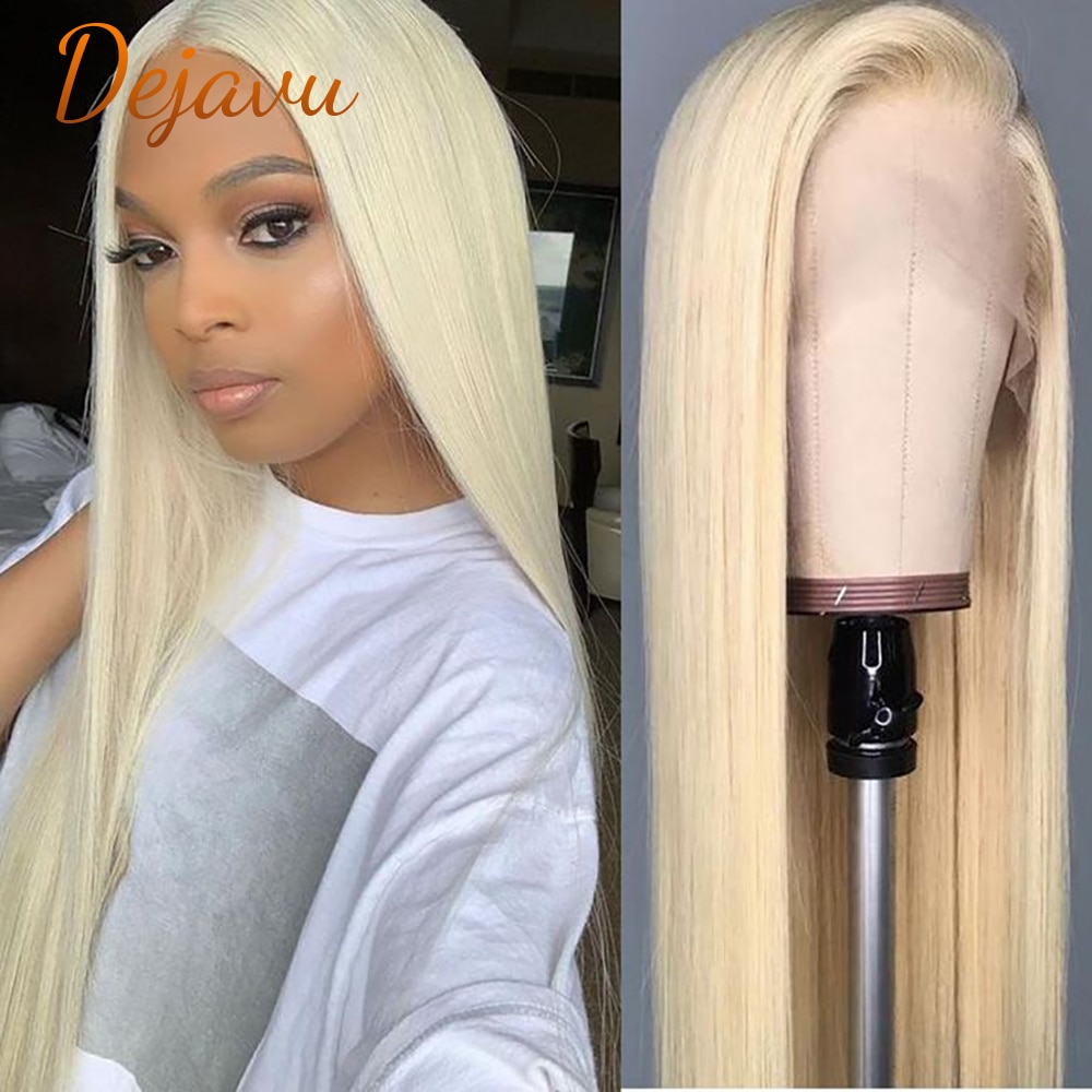 Dejavu 613 Blonde Lace Front Wig Human Hair Wigs 30 Inch 13x4x1 13x4 Lace Frontal Wigs Straight Pre Plucked Remy Wig