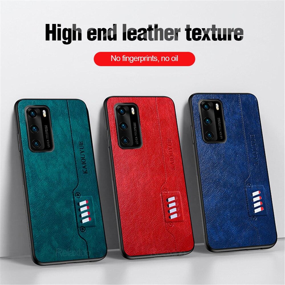 Capa de couro para huawei p40 lite 5g borda macia volta telefone capa para huawei p40 pro plus p 40 lite 40 luz e p40light casos coque