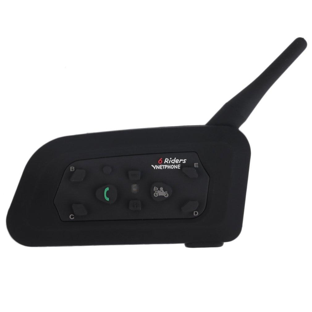 US Plug V6 Шлем Интерком 6 всадников 1200 м мотоцикл Bluetooth домофон гарнитура Walkie Talkie шлем BT Interphone