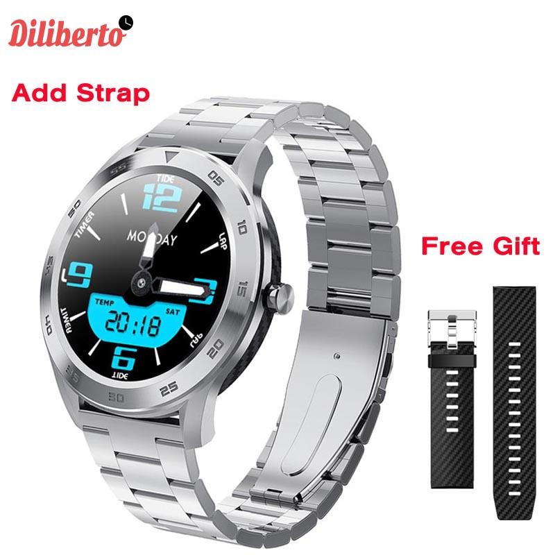 Diliberto ECG Inteligente Relógio IP68 DT98 Rastreador De Fitness Monitor de Freqüência Cardíaca Cronômetro À Prova D Água Chamada Bluetooth Smartwatch VS B57 L7