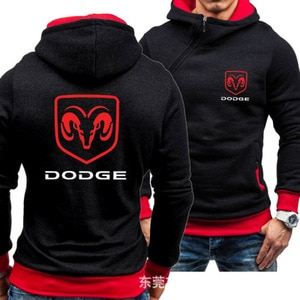 spring autumn Men's new Dodge  casual fashion Sweatshirt hooded  cardigan jacket HipHop Harajuku Male Clothing