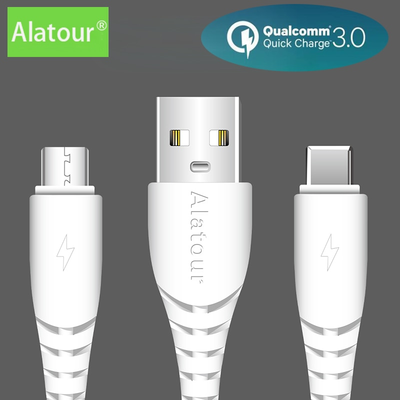 6A USB Type C Micro 60w Fast Charging Micro lightning Cable Data Cord For Samsung iphone Huawei xiao