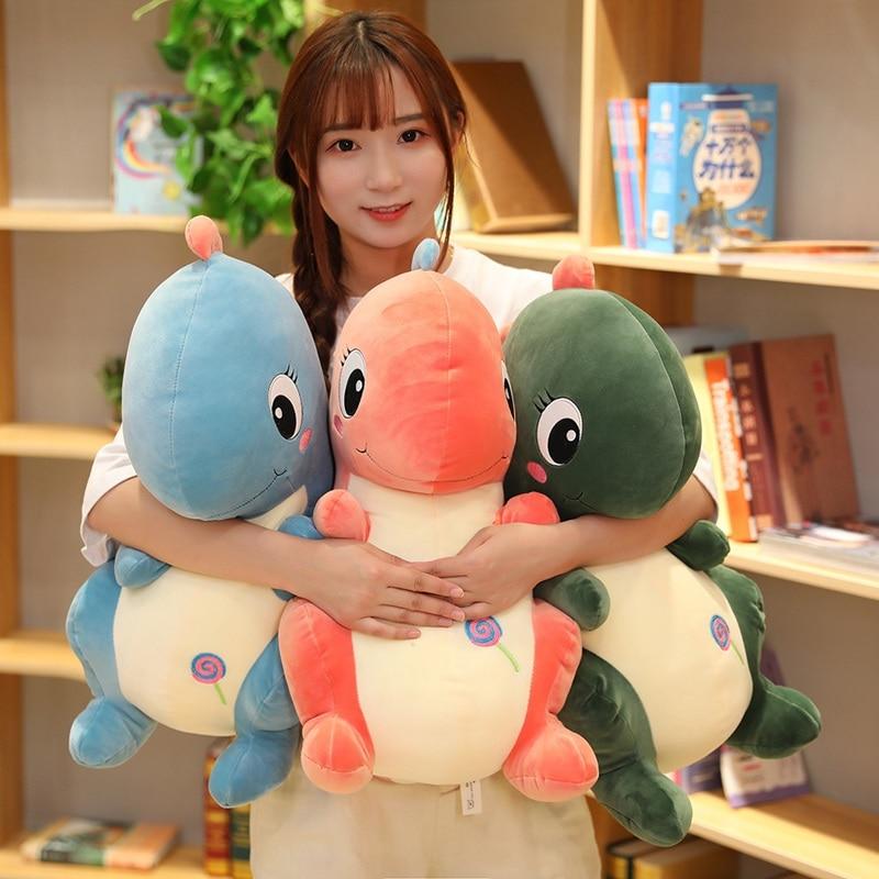 New Lovely 3 Colors Creative Simulation Dragon Plush Toy Soft Cartoon Dinosaur Stuffed Pillow Doll Baby Appease Children Gift недорого