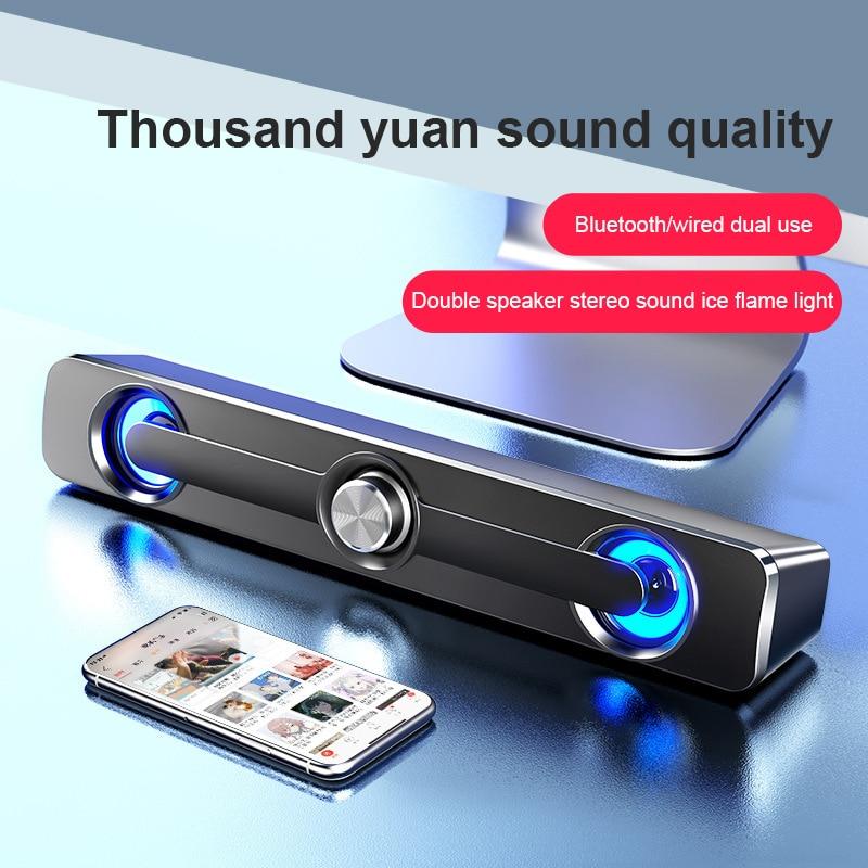 Alto-falante com fio barra de som estéreo baixo subwoofer áudio aux alto-falante surround caixa de barra de som para computador portátil tv computador