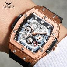 Montre de Sport de luxe pour hommes ONOLA mode quartz horloge grand visage montre-bracelet montres décontractées hommes relogio masculino