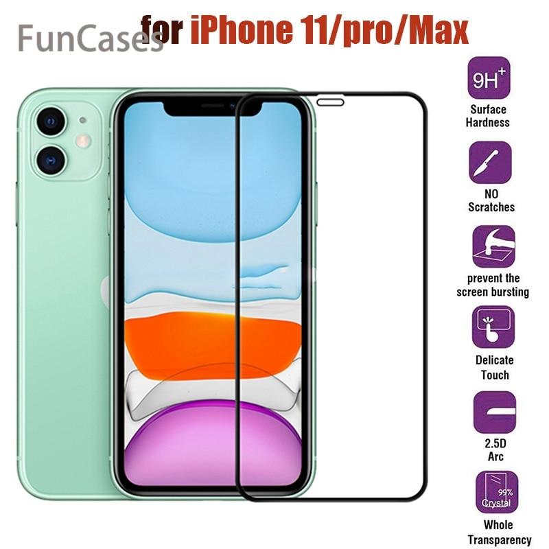 Protector de vidrio templado para móvil, película frontal protectora para iPhone 11...