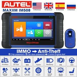 Image 1 - Autel MaxiIM IM508 OBD2 автомобиль scania диагностический Автомобильный сканер инструмент для двигателя ECU XP200 программируемый Профессиональный Автомобильный сканер
