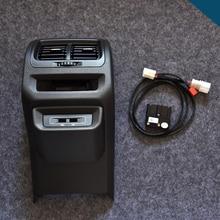 Para VW MQB Touran asiento trasero USB cargador apoyabrazos ventilación de aire trasero LHD Coche