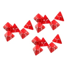 15Pcs Polyhedral Würfel D4 4-seitige Arylic Edelstein Muti-Seitige Würfel für D & D DND Bord spiele Tasse Spiel Tabelle Spiele Rot