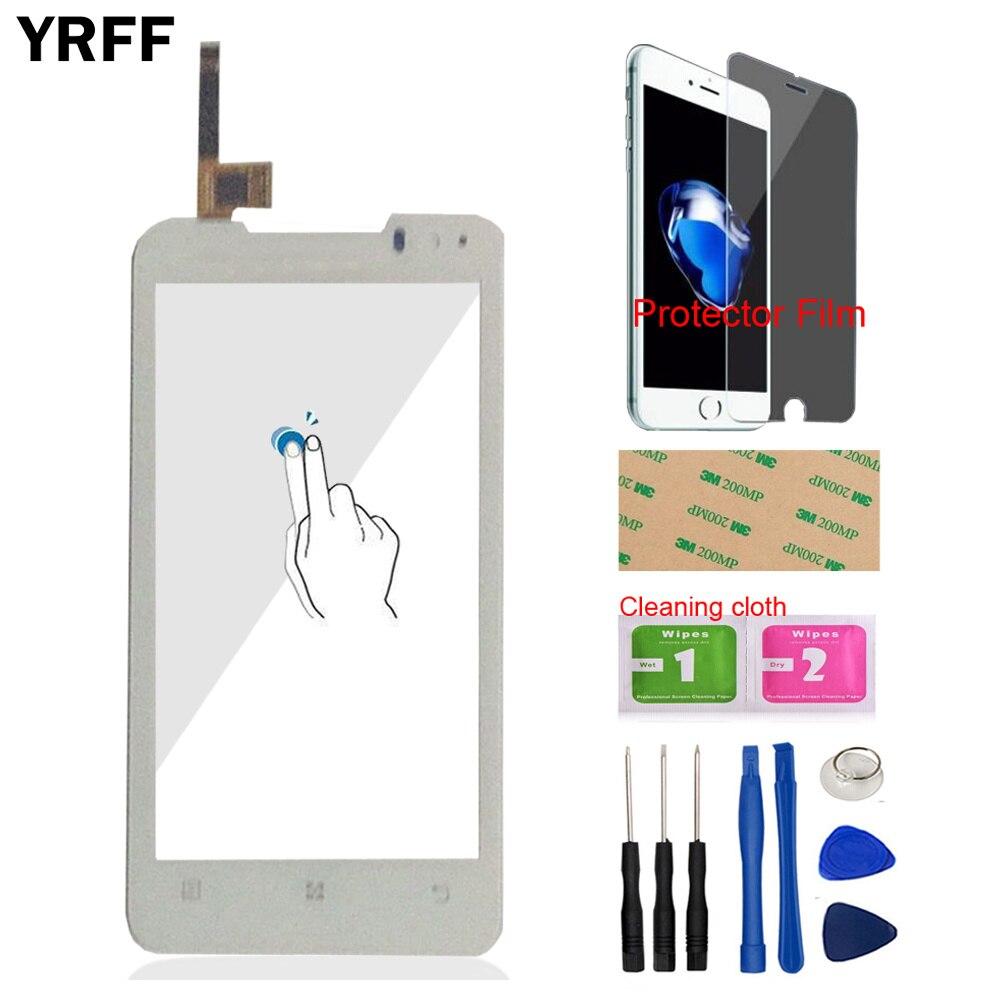 Cristal frontal para teléfono móvil YRFF de 4,5 pulgadas para Lenovo P770 770, pantalla táctil, herramientas para Panel digitalizador, adhesivo de película protectora gratis