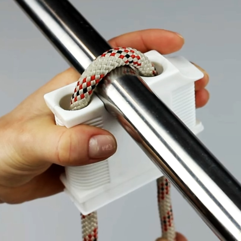 Белый ABS причальный Кранец анти-столкновения держатель для мяча фиксированный кабельный регулятор держатель кабеля регулятор яхты аксессуары