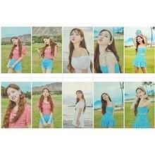 10 pçs/set Photocard Kpop Duas Vezes Foto Cartão Stikcy Sana Nayeon HD Adesivo Etiqueta Do Cartão de Cristal Mina
